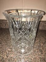 Beautiful St George Fine Lead Crystal Hurricane Candle Holder Vase With Box