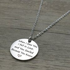 Pendant Necklace When I Saw You I Fell In Love Women Birthday Anniversary Gift