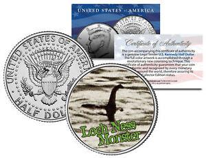 LOCH NESS MONSTER  Surgeon's Photo Scotland JFK Kennedy Half Dollar US Coin