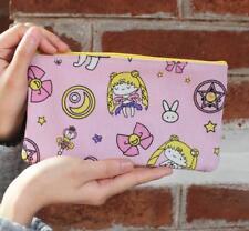 sailor moon canvas pencil bag storage handbag money cards makeup bag