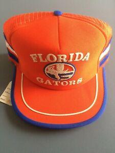 Vintage FLORIDA GATORS 3-stripe Trucker Hat Cap *NEW*