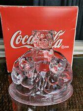 Coca Cola Polar Bear Lead Crystal Clear Glass Trio Figurine Collectible 1998