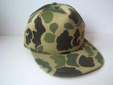 Vintage Camo Hat Green Camouflage Snapback Baseball Cap