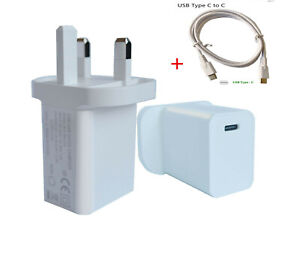 For Google Pixel 5 4A 3 3A UK Plug USB-C Type C Fast Wall Charger Adapter PD 18W