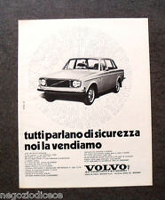 O990 - Advertising Pubblicità -1971- VOLVO , VENDIAMO LA SICUREZZA