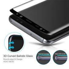 Panzer Glas Display Schutz Folie für Samsung Galaxy S7 Edge schwarz 3D Curved 9H