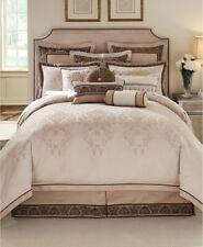"Waterford Linens Astor Boudoir Pillow 20x12"" Jacquard Beige Taupe Decorative"