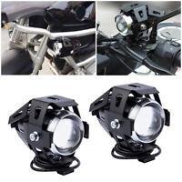 2pcs 125W LED Moto antibrouillard Feux Lampe U5 Lumière Avant + Commutateur