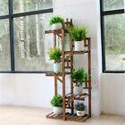 Tall Wooden Plant Stand Corner Shelf Ladder For Balcony Indoor Outdoor Garden