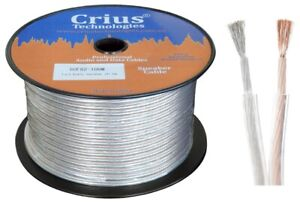 """Crius Tech SCF82-100M  - 100mtr, Fig """"8"""", 1.2mm, Double Insulated Speaker Cable"""