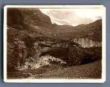 France, Chute du Glacier de la La Meije  Vintage silver print.  Tirage argenti