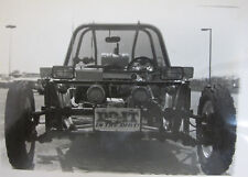 Dune Buggy Race Car Driver Front End Engine Ber Tires 1950s Original Photo
