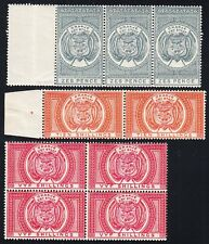 Orange River Colony 1882-86 6d ,10s and 5s pairs , MNH