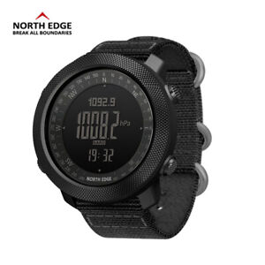 NORTH EDGE Mens Military Army Sports Watch Waterproof Compass Altimeter Running