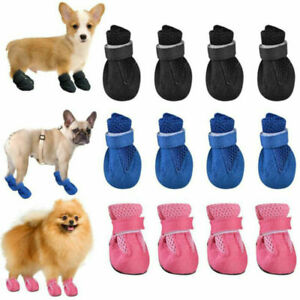 Small Dog Cat Anti Slip Shoes Protection Pet Puppy Mesh Breathable Booties Socks