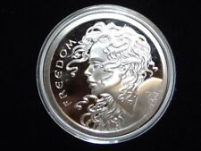 2014 FREEDOM GIRL PROOF 5 OUNCE SILVER MEDALLION