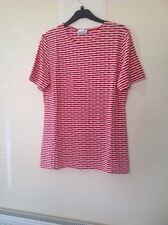 GERRY WEBER 38  Red Striped Top