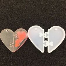 UV Resin Jewelry Liquid Silicone Mold Love Heart Locks Pendant Making Craft Tool