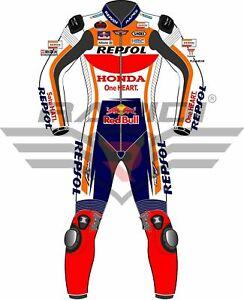 MARC MARQUEZ HONDA REPSOL 2019 MODEL MOTOGP MOTORBIKE LEATHER RACING SUIT
