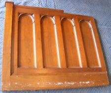 M.P. Moller Pipe Organ Console Mahogany Romanesque Arch Modesty Panel ca. 1948