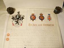 1907 Sir Evan Davies JONES 1st Baronet pentower EDW VII Grant of Arms Cased