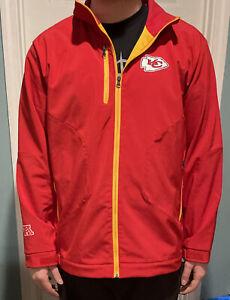 NWT NFL Football KC CHIEFS Fully Lined Full Zip Coat Jacket Adult Men's XL