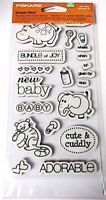 Fiskars 136600-1001 Simple Stick Reposition-able Rubber Stamps New Baby