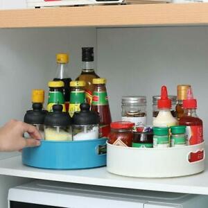 Kitchen Round Rotating Storage Organiser Revolving Condiment Rack Lazy Susan top