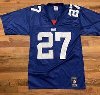 R on Dayne #27 New York Giants Jersey Mens M Blue Reebok NFL Vintage Apparel