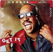 "STEVIE WONDER MICHAEL JACKSON GET IT 12"" SINGLE LP 1987 MOTOWN 4604MG PROMO EX"
