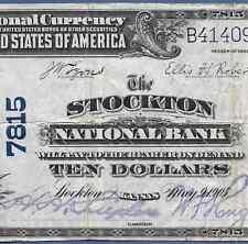 KS  1902 $10  ♚♚ STOCKTON, KANSAS ♚♚    THE STOCKTON NB    RARE NOTE!!!