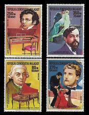 MALAGASY REPUBLIC. Composers & Entertainers. 1988 Scott 869-872. MNH (BI#12)