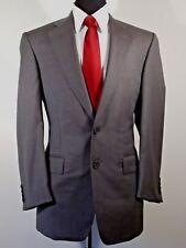 Samuelsohn gray Super 100 wool 2 button suit, 40R, pant 35 x 30