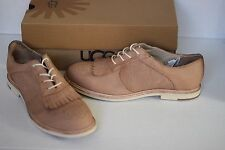 UGG BERNETT KILTIE (PUTTY) OXFORD LOAFERS Size 10 EUR 41 shoes Retail $179
