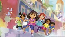 DORA THE EXPLORER AND FRIENDS PREPASTED WALLPAPER MURAL Girls XL Wall Decor