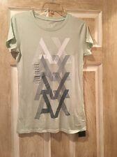New Armani Exchange T Shirt, Pastel Green, Women, Size XXS