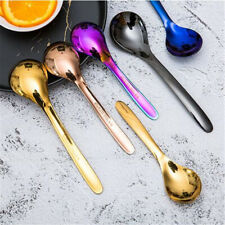 Household Stainless Steel Spoon Rice Soup Spoons Flatware Kitchen Supplies ONE
