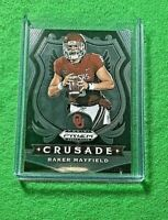 BAKER MAYFIELD SILVER CHROME CARD JERSEY #6 BROWNS 2020 Prizm DP CRUSADE SP