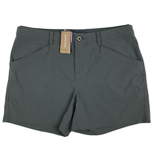 """Patagonia Quandary 5"""" Shorts Womens Sz 12 Forge Grey Hiking Camping Outdoors NWT"""