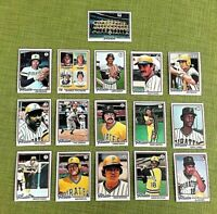 1978 TOPPS BASEBALL PITTSBURGH PIRATES 27 CARD COMPLETE TEAM SET EX-MT/NM