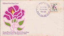 (Jr-54) 1970 Au Fdc 6c floral emblem desert Rose (toned)