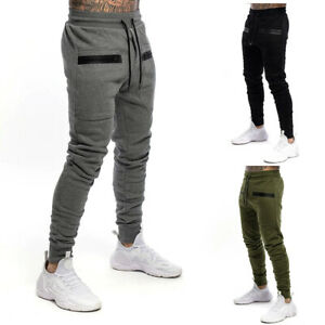 Men's Jogging Bottoms Sports Trousers Cotton Sweat Pants Training Trousers Boys