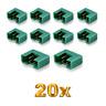 20x Stück MPX Male Stecker M6 6PIN Multiplex Style 6 Polig 35A Grün Plug Buchse