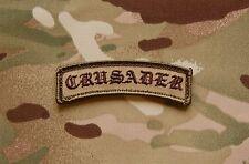 CRUSADER Tab Patch Multicam OCP Afghanistan Infidel AOR1 Special Forces Hook