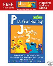 8 Sesame Street Birthday Party Personalized Invitations