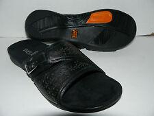 06a42bb3bbe Weil by ORTHAHEEL Shoes Women s PATH Leather Slide Sandal Black Sz US 5    EUR 36