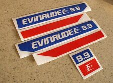 Evinrude Outboard Vintage Decal Kit 9.9 HP Die-Cut FREE SHIP + FREE Fish Decal!