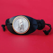 2013 Ohio Perry Victory & International Peace Memorial Site 25c Leather Bracelet