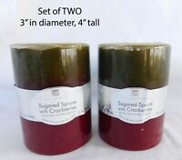 "2  Home Interiors MULBERRY Candles SeT of TWO 3"" x 4"""
