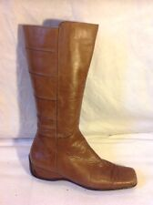 Nine West Brown Mid Calf Leather Boots Size 38